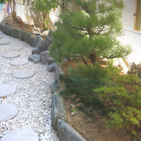 大阪門真市での植栽前画像
